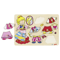 Wooden Peg Puzzle - Dress-up Princess