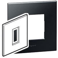 Arteor (British Standard) 1 Gang 1 Module Square Graphite | LV0501.0130
