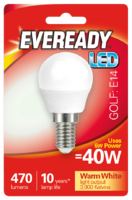 EVEREADY 6W (40W) E14 LED GOLF BALL 470 LUMENS