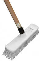 Deck Scrub with Wooden Handle