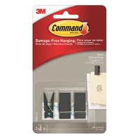 Command Slate Spring Clip Small 3pk - 17089S-ES