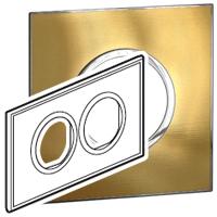 Arteor (British Standard) Plate 2x2 Module 2 Gang Round Gold Brass| LV0501.2715