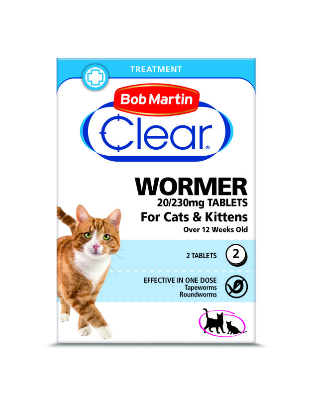 Bob Martin Clear Wormer Tablets for Cats & Kittens 6 x 2 Tablets