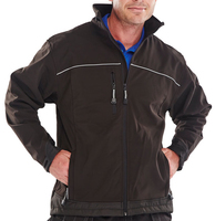 Click Black Softshell Breathable Jacket