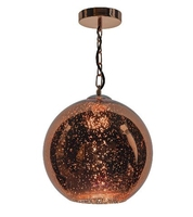 Speckle 1 Light Electro Plated Pendant, Copper Finish | LV1802.0099