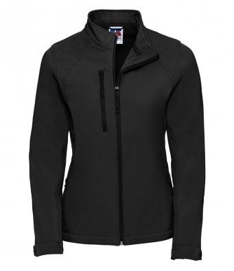 J140F Ladies Black Elite Softshell Jacket