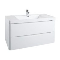 Bali White Gloss Wall Mounted Cabinet 900mm