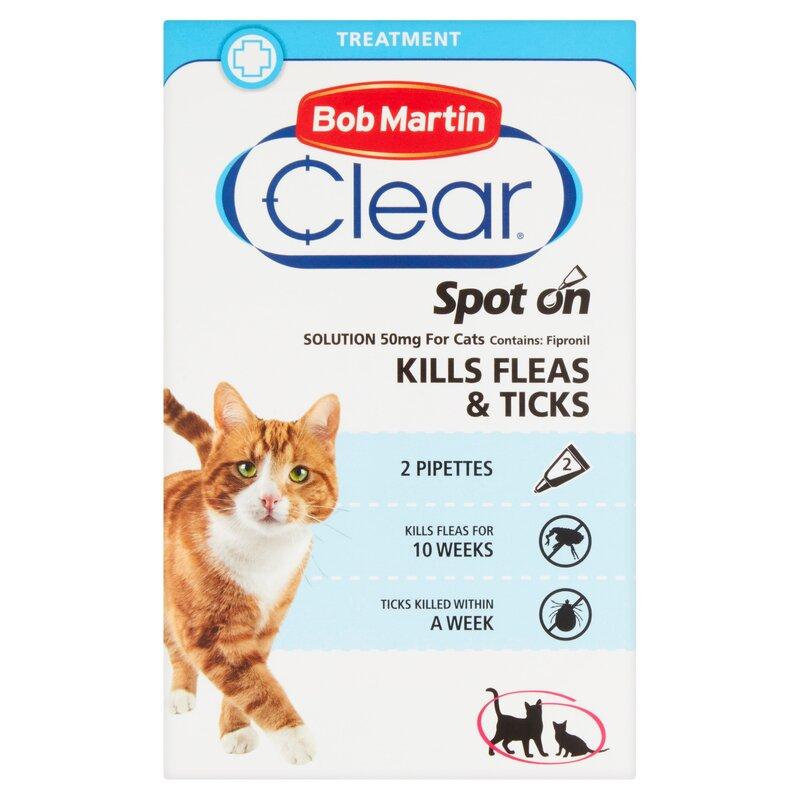 Bob Martin Clear Flea & Tick Spot On for Cats & Kittens 4 Week x 10