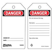 Master Lock Danger blank - safety tag