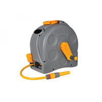 Hozelock Hose Reel Compact Complete with Hose & Nozzle 25m