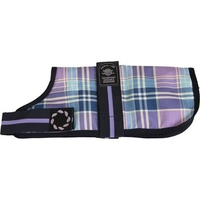 """Outhwaite Dog Coat Padded Lining 12"""" Lilac Tartan x 1"""