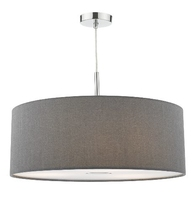Ronda 60cm 3 Light Pendant Slate Grey, Compelte with Diffuser | LV1802.0092