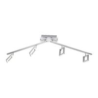 Paul Neuhaus Inigo Warm White 4 x 5W LED Stainless Steel Wall/Ceiling Light | LV2002.0008
