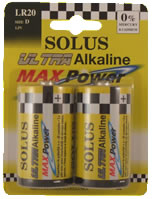 SOLUS LR20/D 12X2 BATTERIES