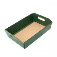 BOX TRAY 310X220X90MM DK GREEN