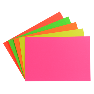 "LYNX CA5 3"" x 2"" fluorescent card (10 Packs of 96)"