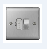 NEXUS BRUSHED STEEL 13A FUSED CONNECTION UNIT SWITCHED