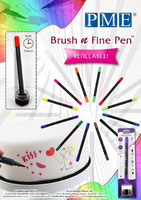 Brush 'n' Fine Pen, Refillable 12pk**