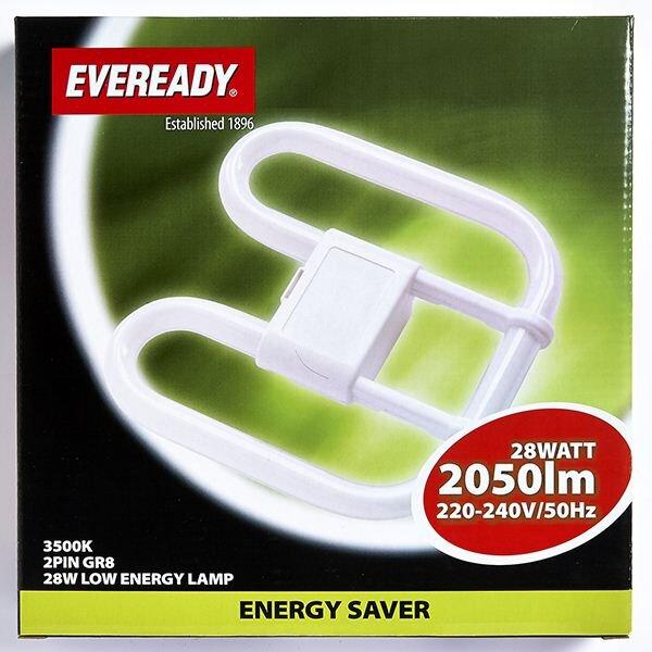 EVEREADY WHITE (COL3500K) 2D 28W 2 PIN