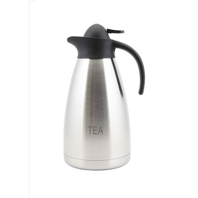 Contemporary Vacuum Jug S/S Inscribed Tea 2 Litre