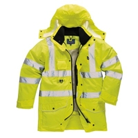 Portwest 7 in 1 Yellow High Vis Traffic Jacket