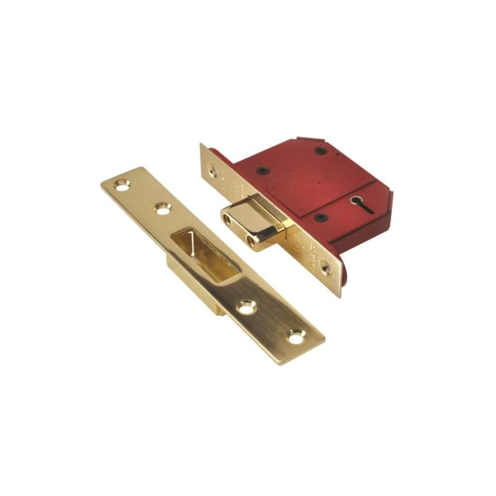 PROFESSIONAL BS 5 LEVER DEADLOCK BRASS, Y2100S-PL-2.5