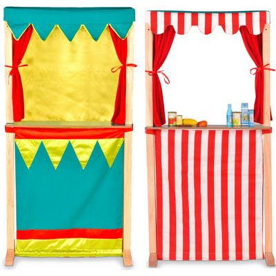 2-in-1 puppet theatre and shop