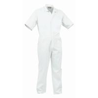 Turu Pure Food Industry Nylon Zip Short Sleeve Polycotton Overall 190gsm