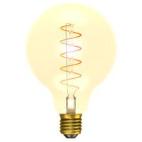 4W LED VINTAGE SOFT COIL VERTICAL FILAMENT GLOBE - ES, AMBER, 2200K