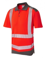 Leo PEPPERCOMBE ISO 20471 Class 2 Dual Colour Coolviz Plus Polo Shirt