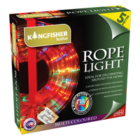 KINGFISHER 5MTR MULTI COLOURED LED ROPE LIGHTS