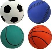 "Dog Life Floaties Rubber Sports Balls 3½"" x 6"