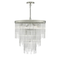 Isla 7 Light Pendant, Polished Chrome & Clear Glass Rods | LV1802.0073
