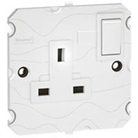 Arteor 1 Gang 13Amp Socket - White  | LV0501.0010
