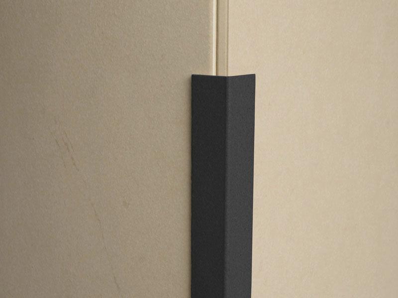 Corner Angle Trim Black PVC 50 x 50mm 2 4 Metre - 1 5mm Thick