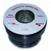 Triax RG6-U PVC BLACK 100mt