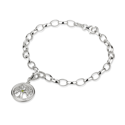SILVER TREE OF LIFE CHARM BRACELET (BOXED)