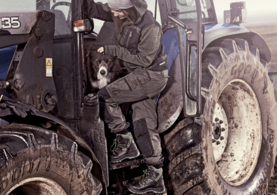 Farmer at Work on the tractor