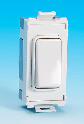 Schneider Ultimate Grid retractive switch Painted White with White surround|LV0701.1059
