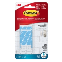 Command Bathroom Water Resistant Strips - BATH22-ES