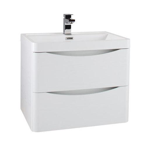 Bali 60cm Wall Hung Vanity Unit & Basin - Gloss White