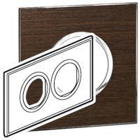 Arteor (British Standard) Plate 2x2m 2 Gang Round Wenge| LV0501.2692