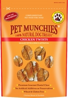 Pet Munchies Dog Treats - Chicken Twists 80g x 8