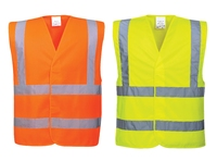 Hi-Visibility Vest 2 Band 2 Brace Yellow or Orange