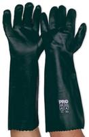 Green PVC Double Dip Sandy Coat Glove 45cm