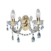 Marie Therese Polished Brass 2 Light Wall Brackets