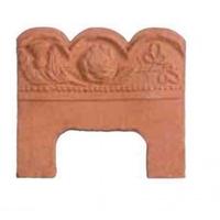Rose Thistle Edging Terracotta 215x190x25
