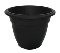 WHITEFURZE 38CM ROUND BELL PLANTER BLACK