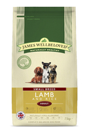 James Wellbeloved Adult Dog Small Breed - Lamb & Rice 7.5kg