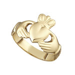 9K HOLLOW BACK LADIES CLADDAGH RING
